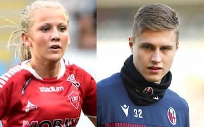Alice e Mattias, uniti dal calcio e dal Bologna