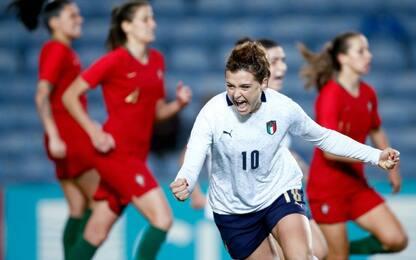 Girelli al 94', l'Italia batte 2-1 il Portogallo