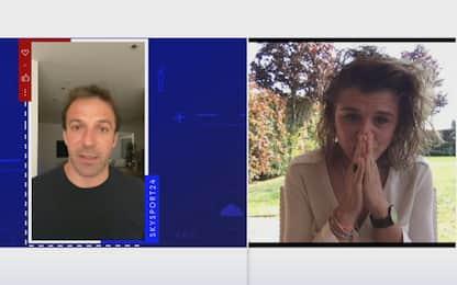 Auguri da Del Piero, la Girelli si commuove. VIDEO