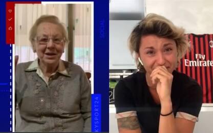 Le lacrime di Valentina ricordando il nonno VIDEO