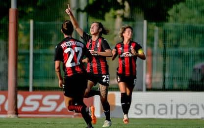 Milan, esordio ok. Goleada Empoli a San Marino