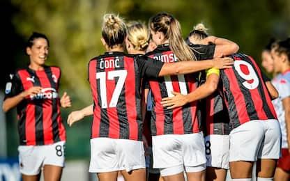 Al Milan anche il derby donne: Inter battuta 4-1