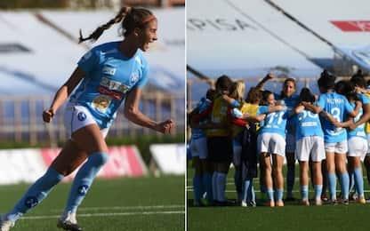 Napoli, Goldoni guarita dal Covid: subito in gol!