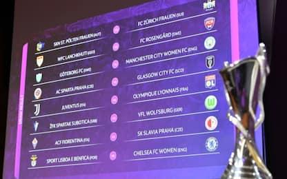 Champions: Juve-Lione, Fiorentina-Slavia Praga