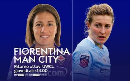 Fiorentina-Man. City, domani alle 14 LIVE su Sky