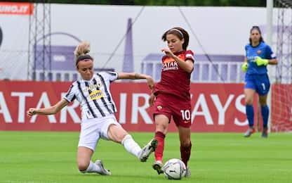 Vince ancora la Juve, 1-0 alla Roma e 21 su 21