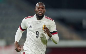 Romelu Lukaku of Belgium during the FIFA World Cup 2022, Qualifiers Group E football match between Belgium and Wales on March 24, 2021 at King Power at Den Dreef Stadion in Leuven, Belgium - Photo Jeroen Meuwsen / Orange Pictures / DPPI / LiveMedia