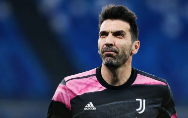 Gianluigi Buffon, goalkeeper of Juventus during warm up before the Italian championship Serie A football match between SSC Napoli and Juventus FC on February 13, 2021 at Diego Armando Maradona Stadium in Naples, Italy - Photo Federico Proietti / DPPI / LiveMedia