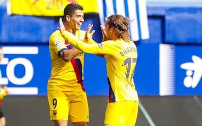 Barça show: 3-0 all'Eibar, tutta in gol la GSM