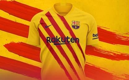 Barça, ecco la 4^ maglia: omaggio alla Catalogna