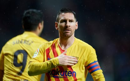 Messi stende l'Atletico, Barça in vetta col Real