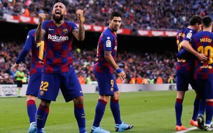 Barça, 4-1 all'Alaves e vetta: a segno anche Vidal