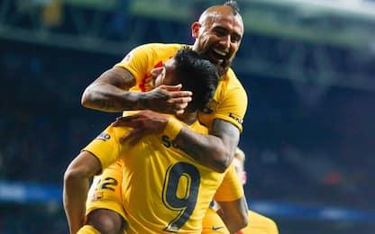 Barça, 2-2 con l'Espanyol: Vidal-gol in 45'