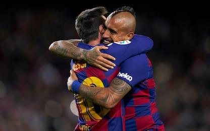 Setién, esordio ok: assist di tacco per Vidal