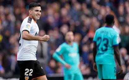 Maxi Gomez piega il Barça: finisce 2-0 al Mestalla