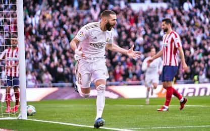 Benzema decide il derby: il Real batte l'Atletico
