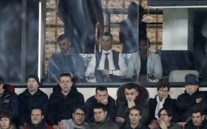 Ronaldo porta bene al Real: in tribuna al Bernabeu