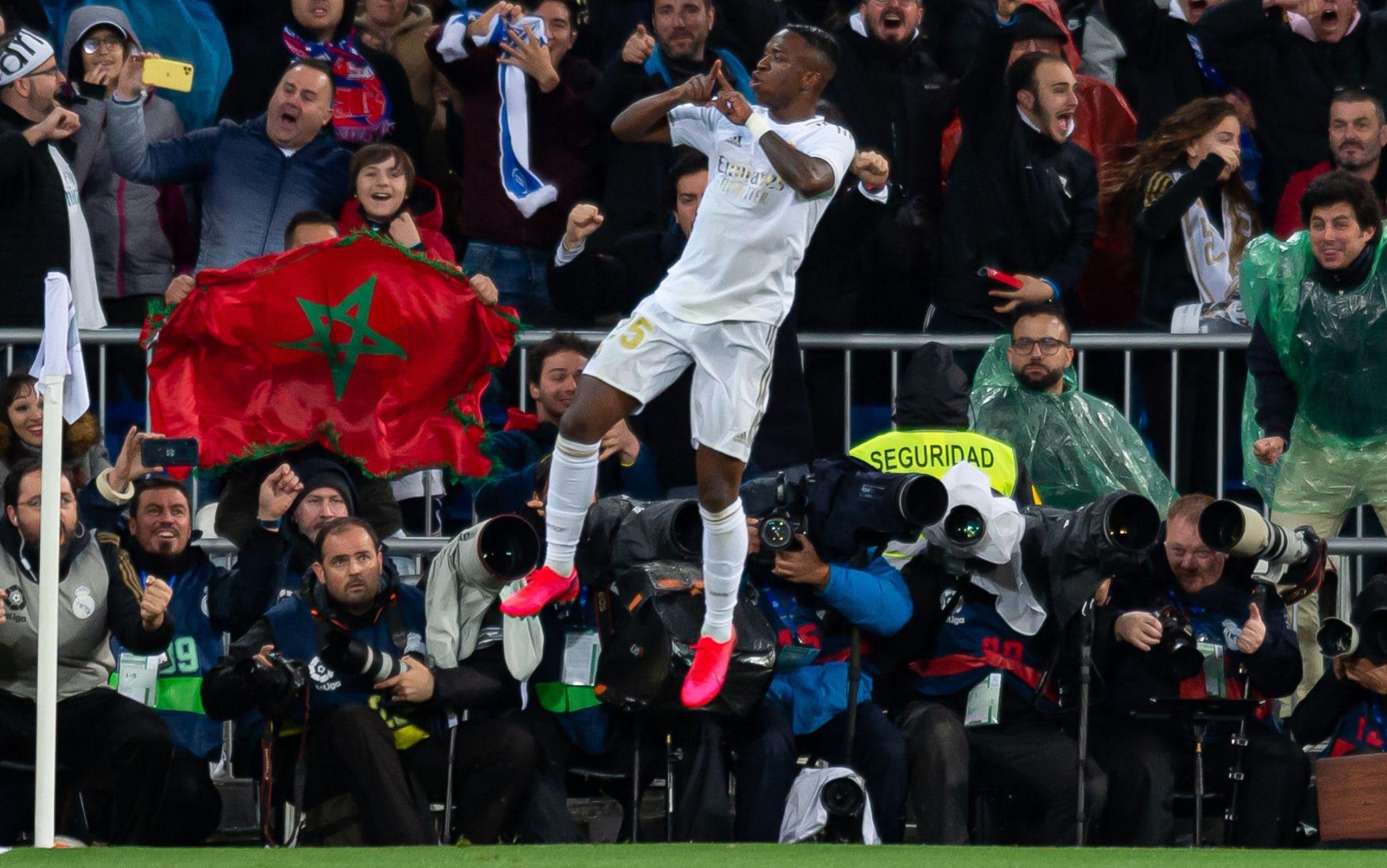 L'esultanza di Vinicius in Real-Barcellona