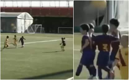 Barça Under 8, doppietta per il figlio di Messi