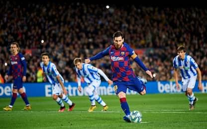 Il Barça fatica ma vince: decide Messi nel finale
