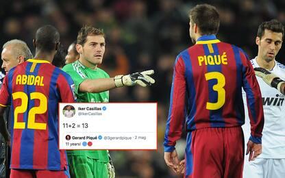 """Piqué ricorda il 6-2, Casillas """"difende"""" il Real"""