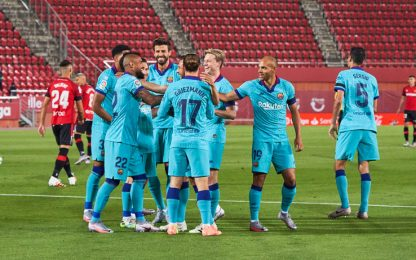Barça, che ripresa! 4-0 a Maiorca, Vidal gol-lampo