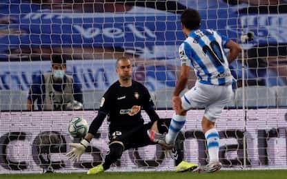 Oyarzabal non basta, Real Sociedad-Osasuna 1-1