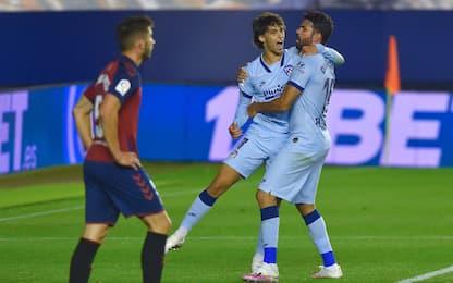 L'Atletico vola con Joao Felix: 5-0 all'Osasuna