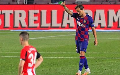 Rakitic-gol, Barça ok. L'Atletico batte il Levante