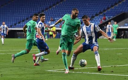 Taconazo e sorpasso: il Real batte 1-0 l'Espanyol