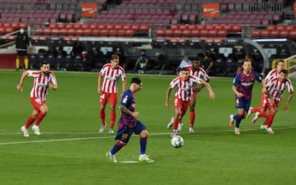 Messi fa 700 ma non basta: Barça-Atletico è 2-2