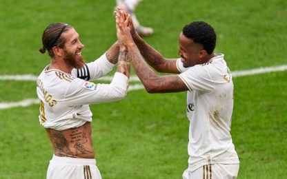 Colpo Real a Bilbao: decide Ramos, Barcellona a -7