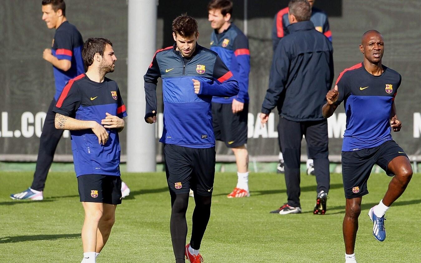 Cesc Fabregas e Gerard Piqué ai tempi del Barcellona