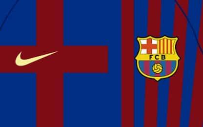 Barça, la maglia 21/22 si ispira allo stemma. FOTO