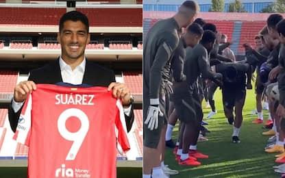Suarez all'Atletico Madrid: che accoglienza! VIDEO