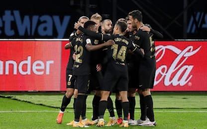 Ancora Ansu Fati: 3-0 Barça al Celta. Siviglia ok