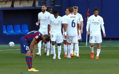 Il Real vince ed è primo in Liga, pari del Barça