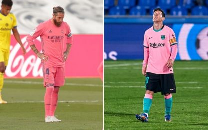Sprofondo rosa per Real e Barça: entrambe ko 1-0