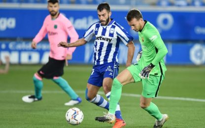 Neto sbaglia, Griezmann segna: Alaves-Barça è 1-1