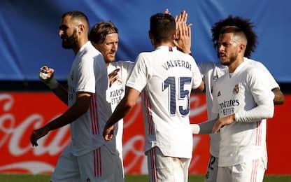 Il Real Madrid avvisa l'Inter: poker all'Huesca