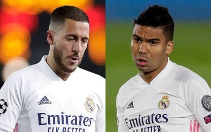 Real Madrid, Hazard e Casemiro positivi al Covid
