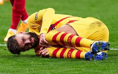 Lesione del crociato per Piqué: dubbio operazione