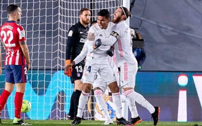Il derby di Madrid è del Real: 2-0 all'Atletico