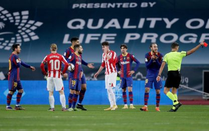 Messi perde la testa, primo rosso dopo 753 partite