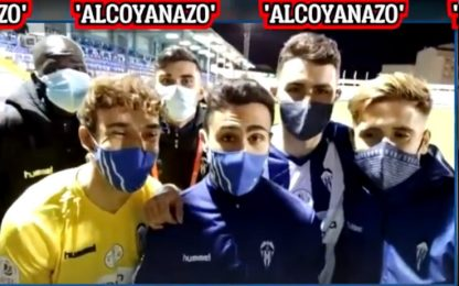 "Alcoyano: ""Real? Pensavamo al coprifuoco"". VIDEO"
