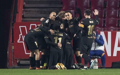Barça, rimonta folle: 5-3 al Granada e semifinale