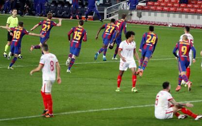Remuntada Barça, 3-0 al Siviglia e finale di Copa