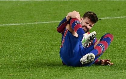 Distorsione al ginocchio per Piqué: salta il Psg