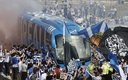 Finale Coppa del Re, assembramento tifosi baschi