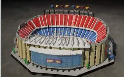 Barcellona, ecco il Camp Nou fatto di Lego
